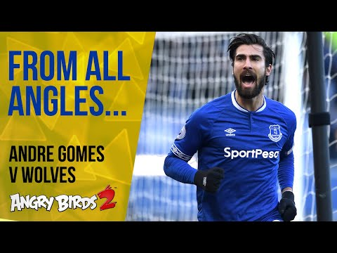 Video: ANDRE GOMES' FIRST EVERTON GOAL: FROM ALL ANGLES!