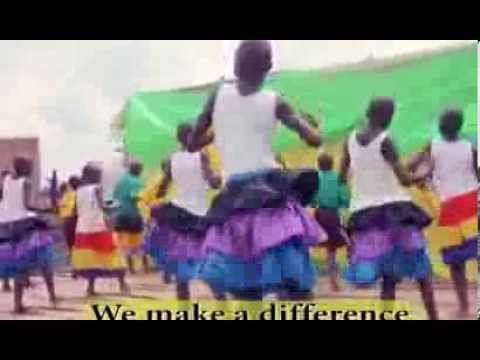 Child Africa children singing and dancing different songs