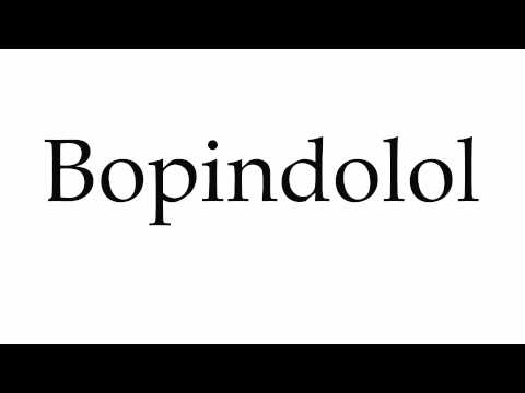 How to Pronounce Bopindolol