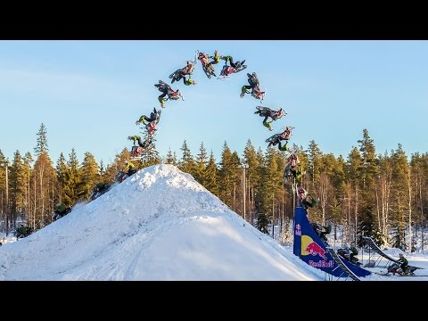 Unbelievable Snowmobile Double Backflip
