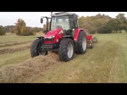 Massey Ferguson 5610 and 1840 baling (видео)