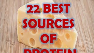 Foods rich in proteins