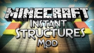 Minecraft Mod Showcase: Instant Structures Mod - Pre-Built Formations!