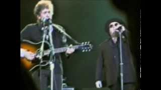 Bob Dylan Knockin' On Heavens Door w Van Morrison Birmingham 24.06.1998