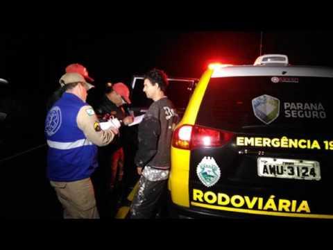 Imagens de saudades - Ônibus de universitários de Saudade do Iguaçu tomba e nove UNIVERSITÁRIOS  ficam feridos