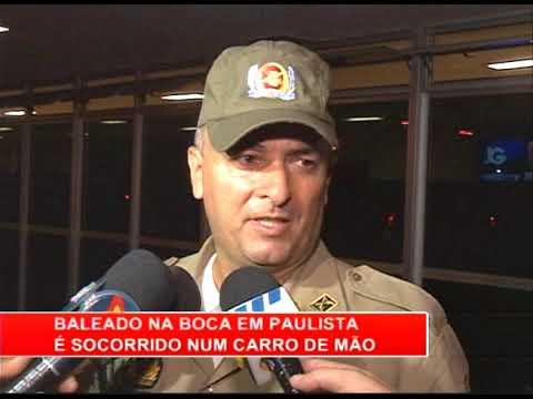 [RONDA GERAL] Baleado na boca em Paulista é socorrido num carro de mão