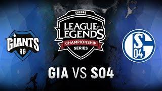 Video GIA vs. S04 - Week 8 Day 1 | EU LCS Spring Split |  Giants Gaming vs. FC Schalke 04 (2018) MP3, 3GP, MP4, WEBM, AVI, FLV Juni 2018