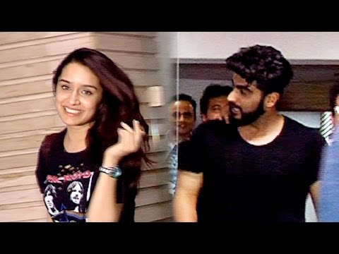 SPOTTED: Shraddha Kapoor And Arjun Kapoor At Half