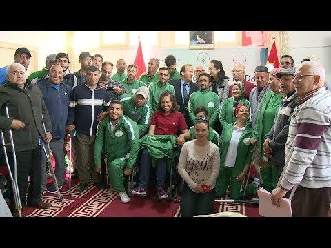 العرب اليوم - شاهد: سفارة الصين تقدّم معدات رياضية للمعاقين
