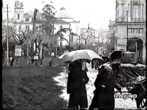 video d'archivio americano: l'eruzione del vesuvio 1944 - filmato raro