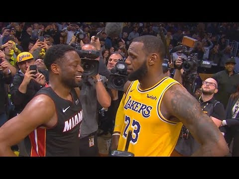 LeBron James Emotional Moment With Dwyane Wade After Final Game! Lakers vs Heat