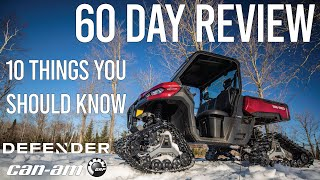 10. 60 Day Review // Can-Am Defender XT // 10 Things You Should Know