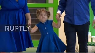 Video Russia: Four-year-old girl who speaks seven languages stuns RT's Moscow studio MP3, 3GP, MP4, WEBM, AVI, FLV Agustus 2018