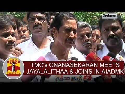 TMCs-Gnanasekaran-Meets-Jayalalithaa-Joins-in-AIADMK-Thanthi-TV
