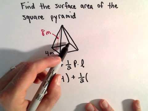 Oberfläche einer Pyramide