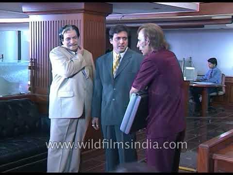 Video Govinda and Kadar Khan shoot for film 'Joru Ka Ghulam' download in MP3, 3GP, MP4, WEBM, AVI, FLV January 2017