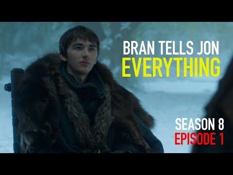 Season 8 Episode 1 Plot Outline Prediction (BRAN tells JON everything) | Game of Thrones