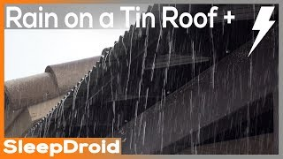 Download Lagu ►10 hours of HEAVY RAIN and THUNDER on a Tin Roof HD VIDEO, heavy rain on metal roof, thunderstorm Mp3