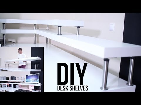 DIY DESK SHELVES   ON A BUDGET !!!
