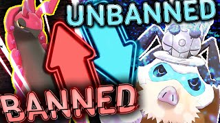 SCOLIPEDE BANNED! MAMOSWINE AND DURANT UNBANNED! Pokemon Sword and Shield by PokeaimMD