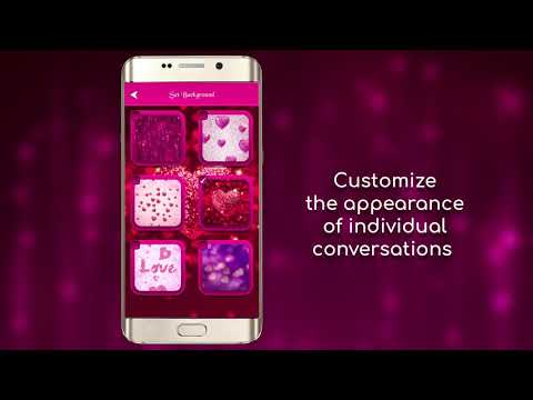 Glitter Love SMS Themes video