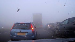Tak się zaczynają karambole na autostradzie. Nagle mgła i nagranie wypadku