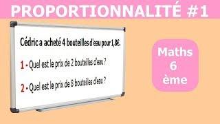 Maths 6ème - La proportionnalité 1 Exercice 9