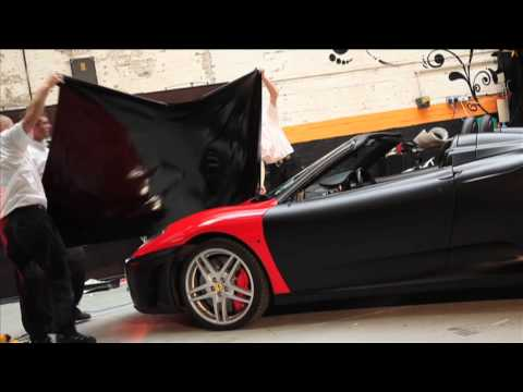 wrapped - See a Ferrari F430 Spider transformed from rosso red to matt black by specialist vinyl wrapping firm Creative FX. You can find out more about Creative FX her...