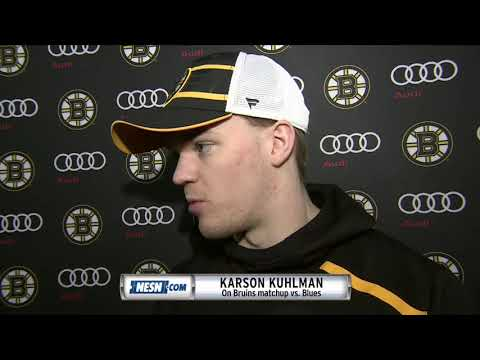 Video: Karson Kuhlman ahead of Bruins matchup in St. Louis
