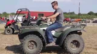 5. demo of our pre-owned Kawasaki Prairie ATV for sale
