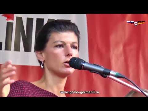 Сара Вагенкнехт  Пугая Путиным нас заставляют вооружаться - DomaVideo.Ru