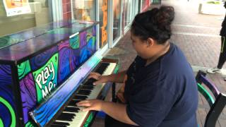 The Piano Said 'Play Me', So This Girl Did. And That Was Amazing!