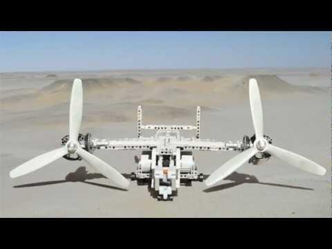 Lego Bell-Boeing V-22 Osprey supported...