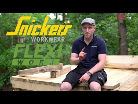 Arbeitshose FlexiWork im Test bei Endel & Dietze, Snickers Workwear Store Potsdam