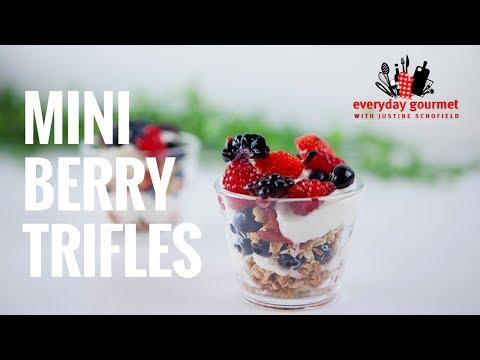Mini Berry Trifle   Everyday Gourmet S7 E85