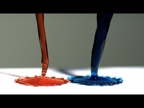 Super Hydrophobic Surface and Magnetic Liquid – The Slow Mo Guys