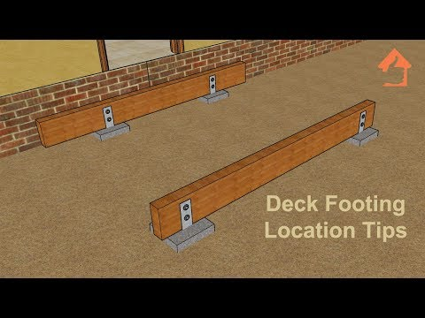 Basic Deck Building Part Three – Concrete Footing Locations