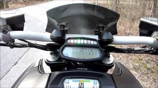8. Ducati Diavel startup and menu [HD]