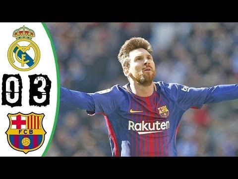 Real Madrid vs Barcelona 0-3 - All Goals & Extended Highlights - La Liga 23/12/2017 - HD