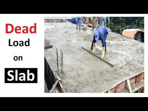 How to calculate Dead Load of the slab