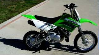 7. 2012 Kawasaki KLX110L Lime Green Manual Clutch Electric Start Review Overview