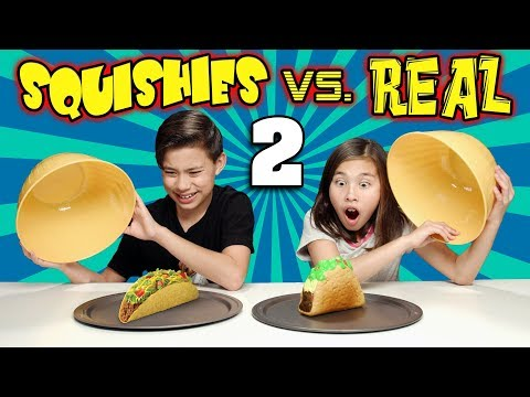 Video SQUISHY FOOD VS. REAL FOOD CHALLENGE 2!!!  More JUMBO SQUISHIES! download in MP3, 3GP, MP4, WEBM, AVI, FLV January 2017