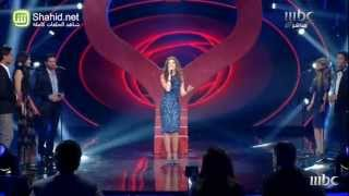 Arab Idol -الأداء -نانسي عجرم في أغنية مع المشتركين