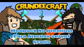 Crundee Craft 1.0.23 modpack no premium Para ATERNOS server gratis