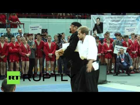Стивен Сигал провел мастер-класс по айкидо
