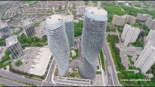 Mississauga (ON) Canada  city photos : Drone view of the city of Mississauga, ON.