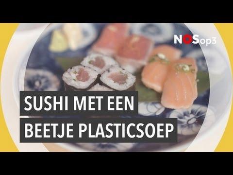 Sushi prikken met oceaanstokjes