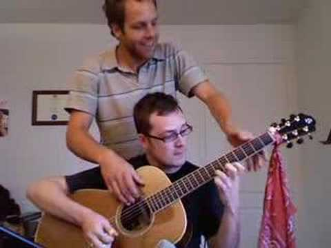 4 guys 1 guitar - Jerry's Breakdown composed by Jerry Reed, played by Antoine Dufour and Tommy Gauthier on a single guitar. Please visit: myspace.com/antoinedufour myspace.com...