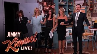 "Jennifer Aniston, Courteney Cox, Lisa Kudrow and Jimmy Kimmel in ""Friends"" - YouTube"