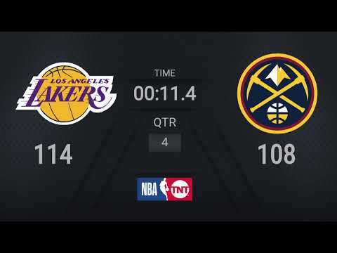Lakers @ Nuggets | NBA on TNT Live Scoreboard | #WholeNewGame